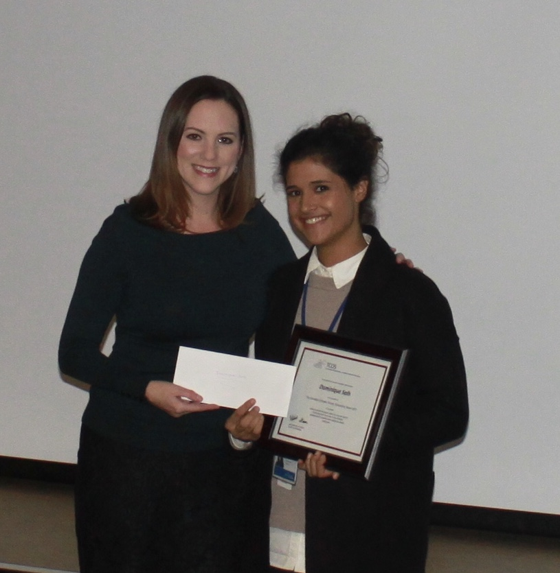 Dominique Salh recipient of the 2017 TCOS Scholarship Award